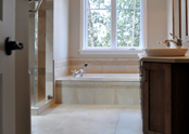 The master ensuite bath is equipped