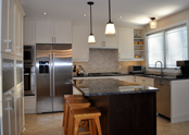 A fully redesigned kitchen combining