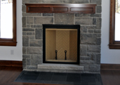 Simply beautiful, the stone fireplace